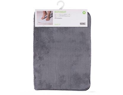 Коврик для ванной комнаты 65х45 серый