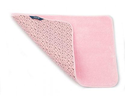Коврик для ванной комнаты 65х45 розовый