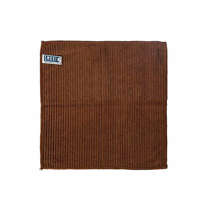 Салфетка ребристая 32×31 коричневая SMART