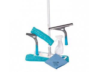 СМАРТ-набор №3: Швабра бытовая, 1 насадка влажная + набор для мытья окон