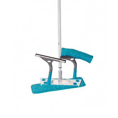 СМАРТ-набор №5: Швабра бытовая, 1 насадка + платформа для мытья окон + скребок универсальный