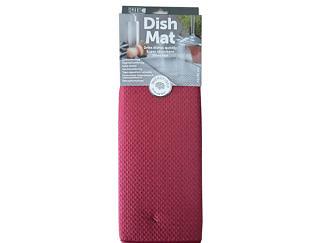Коврик для посуды 41х46 бордо