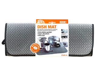 Коврик для посуды 41х46 серый