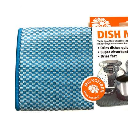 Коврик для посуды 41х46 синий