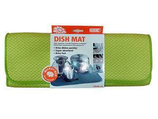Коврик для посуды 41х46 зеленый